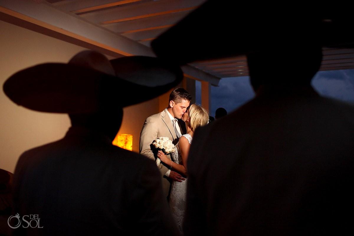 bride and groom at Iberostar cancun