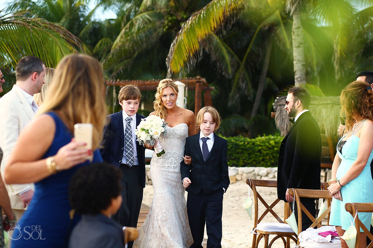 Include Your Children In Wedding Ceremony At The Viceroy Riviera Maya