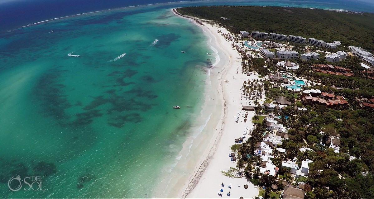 Aerial drone photograph at Belmond Maroma Resort and Spa