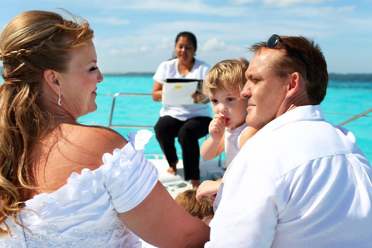 Cancun Catamaran Wedding photos