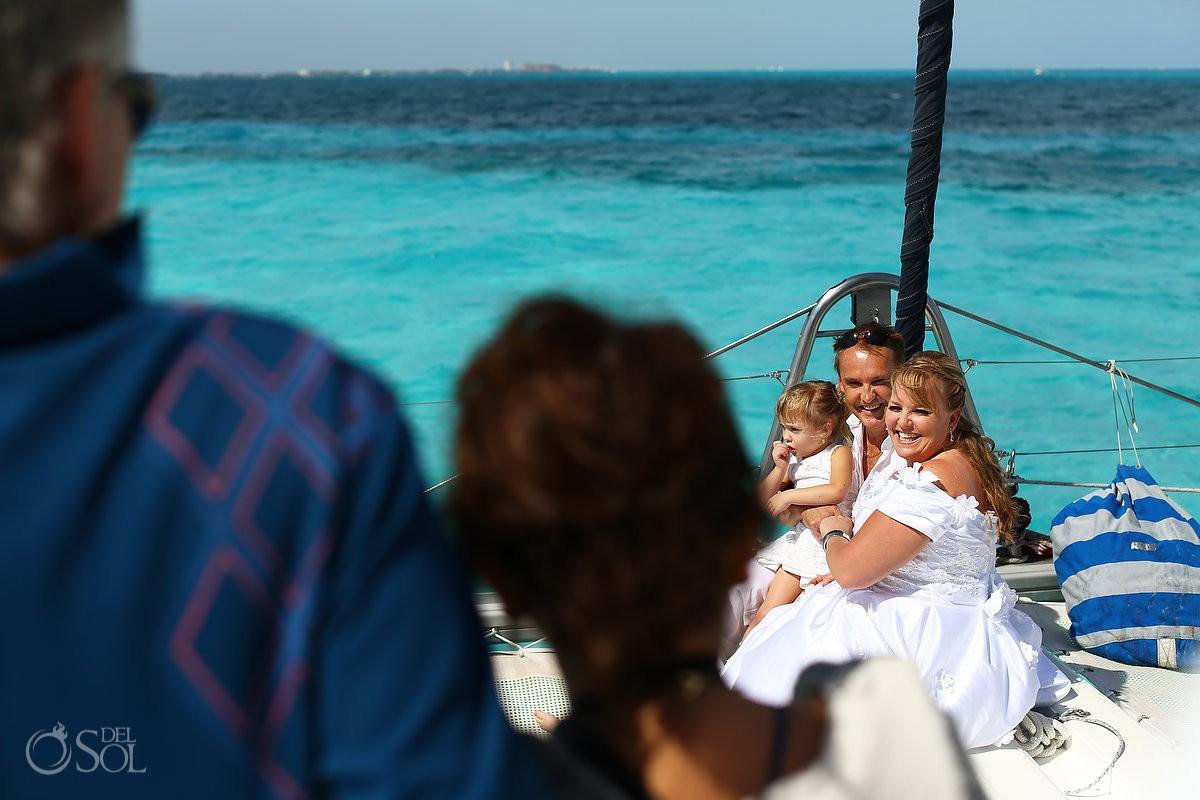cancun catamaran wedding