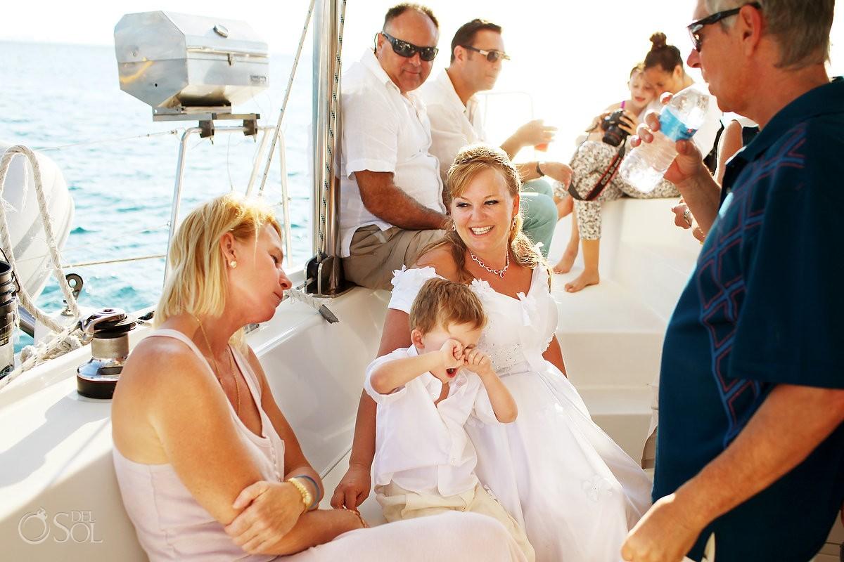 Cancun Catamaran Wedding photographer