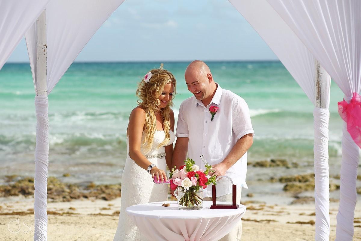 Now Jade wedding beach ceremony