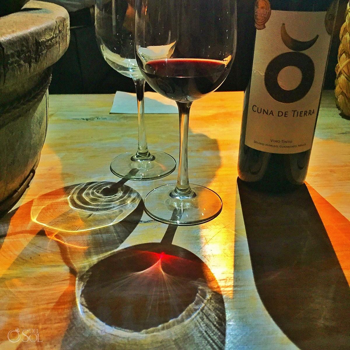 Cuna de Tierra organic wine from Mexico at Rosewood San Miguel de Allende