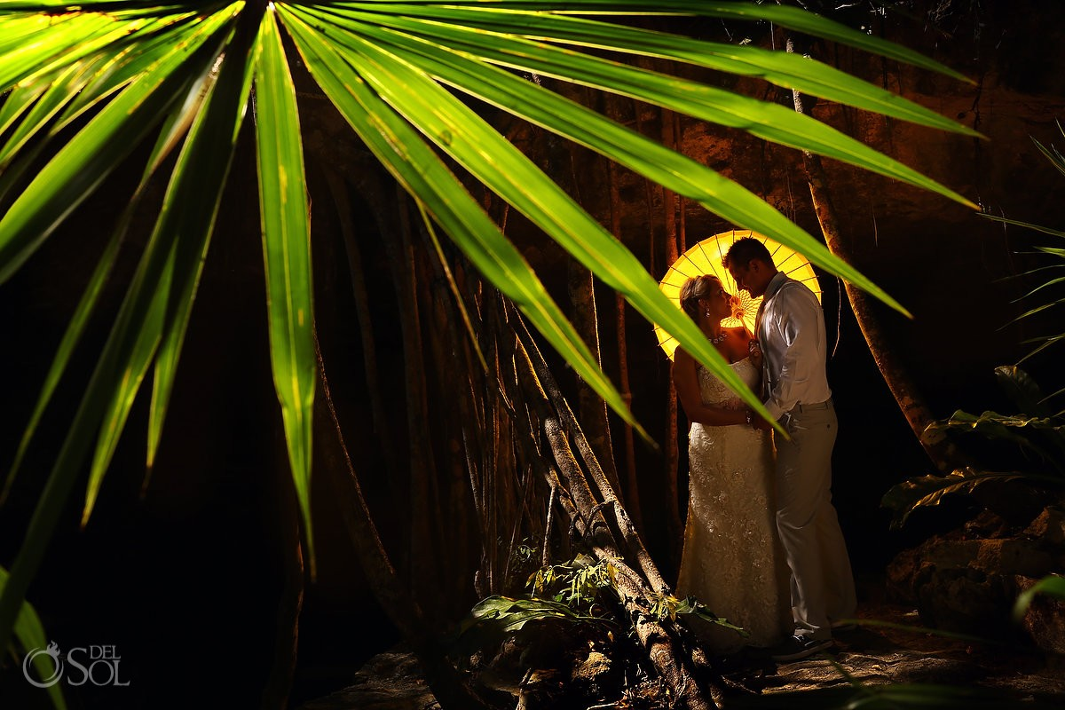 Trash the dress in the jungle of the Riviera Maya.