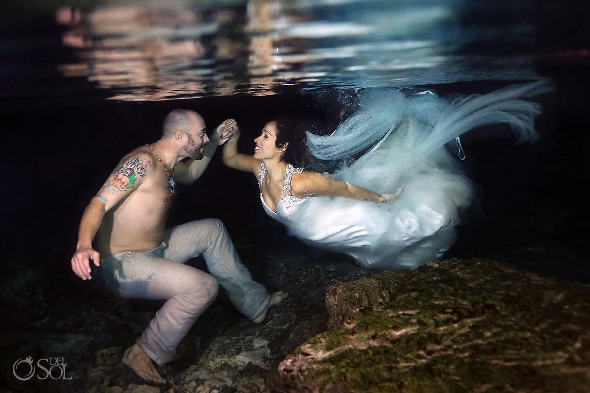 Cenote Trash the Dress Riviera Maya