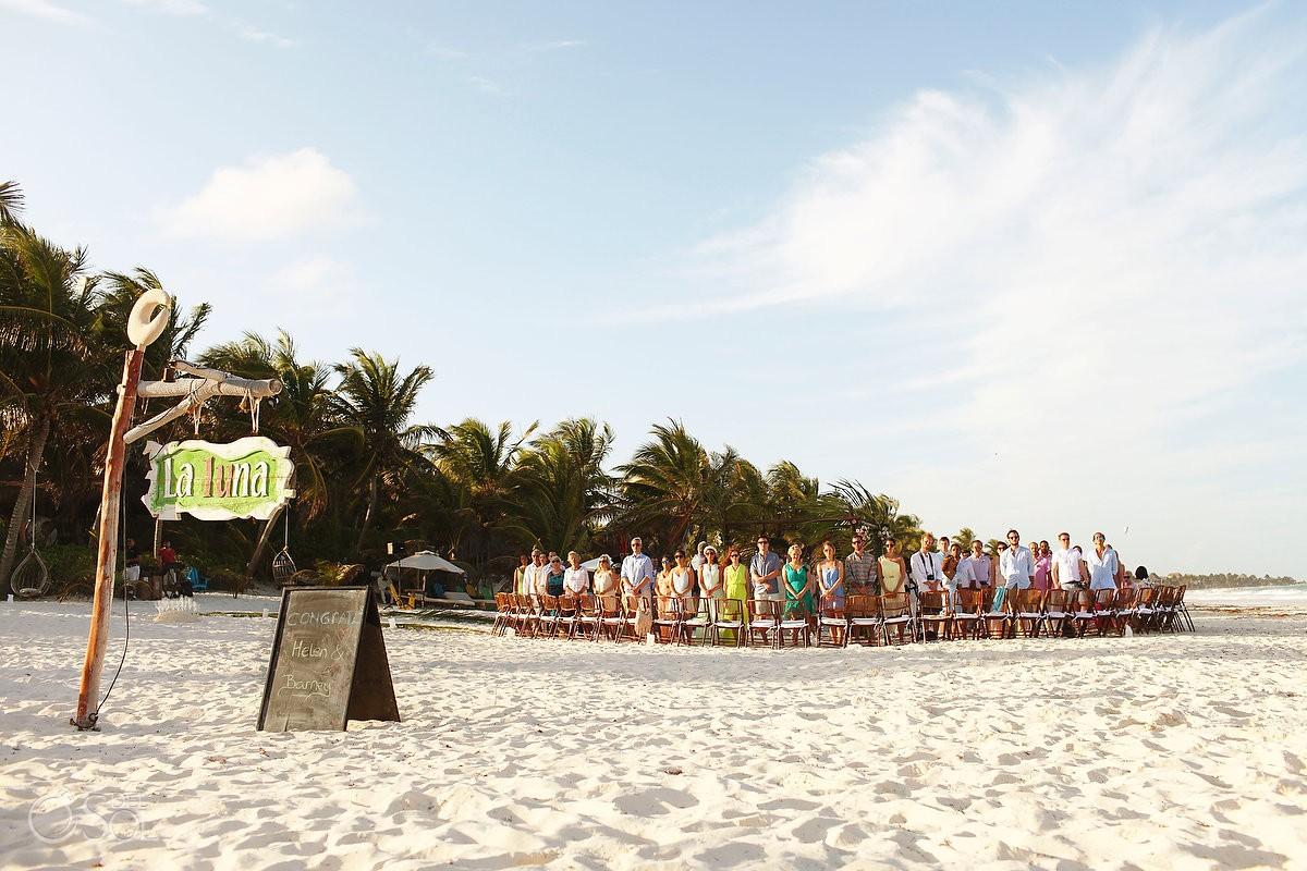 Beach Wedding at Cabanas La Luna in Tulum