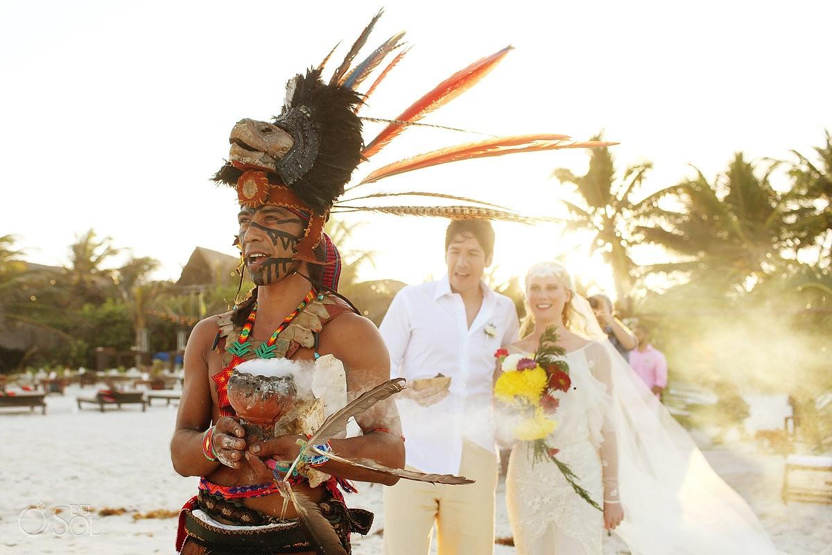 Mayan wedding ceremony in Tulum, Riviera Maya