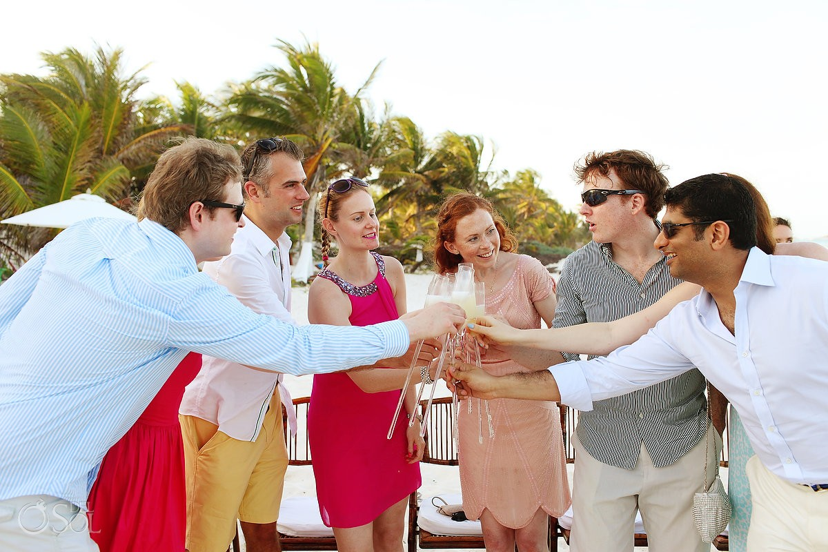 Tulum wedding photography at Cabanas La Luna