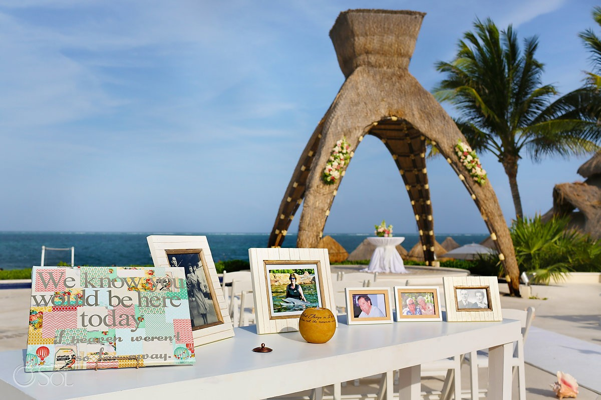 Dreams Riviera Cancun Wedding Gazebo And Guest Table