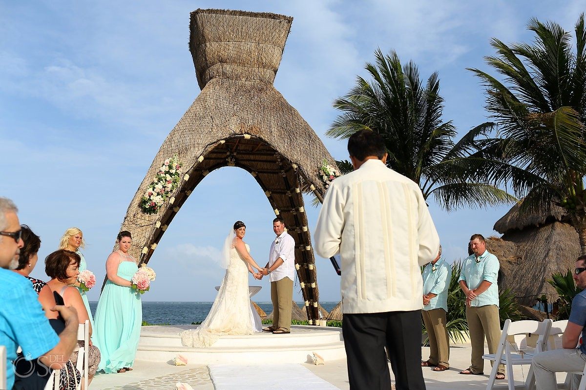 Gazibo Wedding Ceremony at Dreams Riviera Cancun Resort