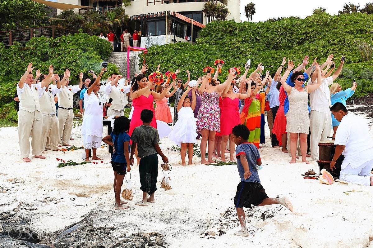 Mayan Ceremony at Hotel Mezzanine weddings