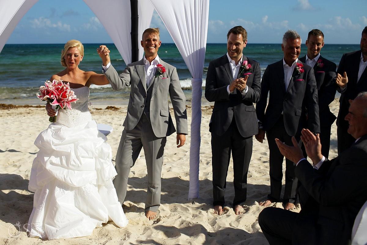 Now Jade Resort Beach Wedding, Riviera Maya, Mexico