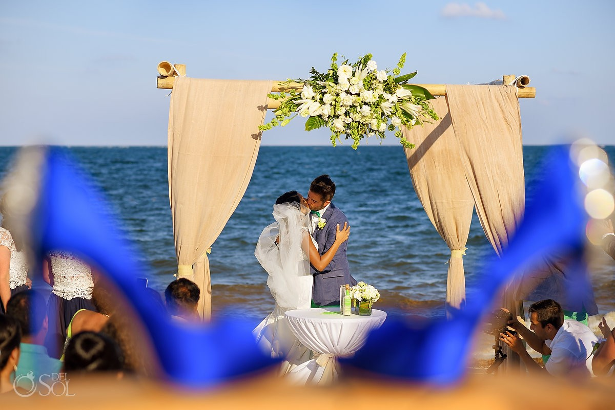 Now Sapphire Resort Beach Wedding ceremony