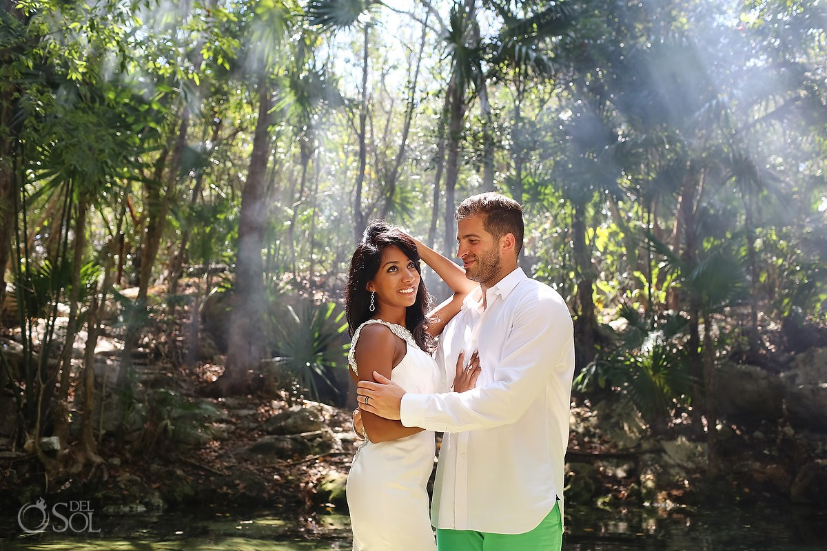 Cenote Trash the Dress - Nazia and Matt