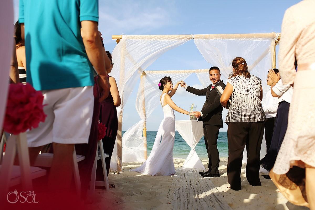 Beach Wedding at Secrets Playa Mujeres Resort