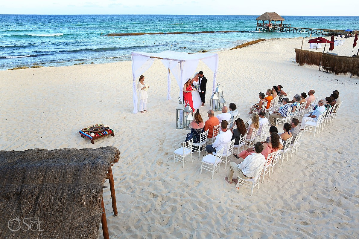 Mayan beach wedding Viceroy Riviera Maya Mexico