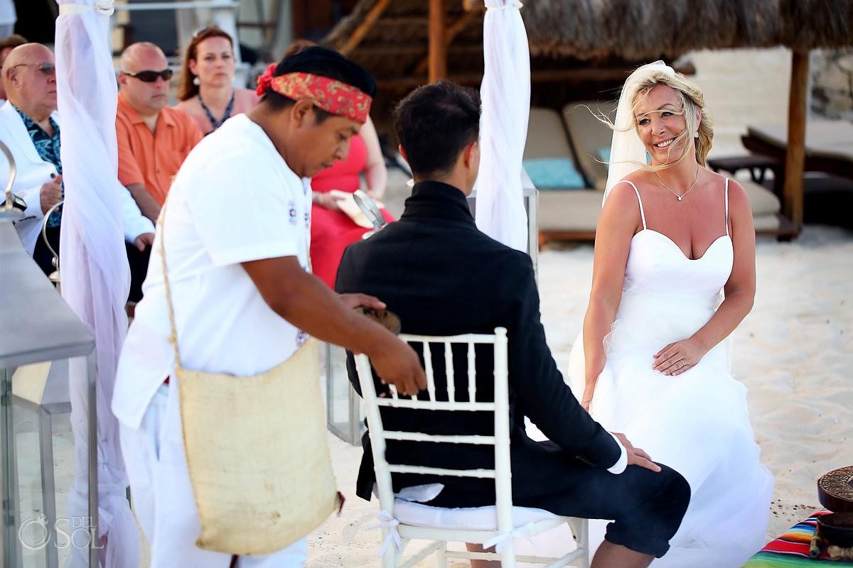 Bride Mayan beach wedding Viceroy Riviera Maya Mexico