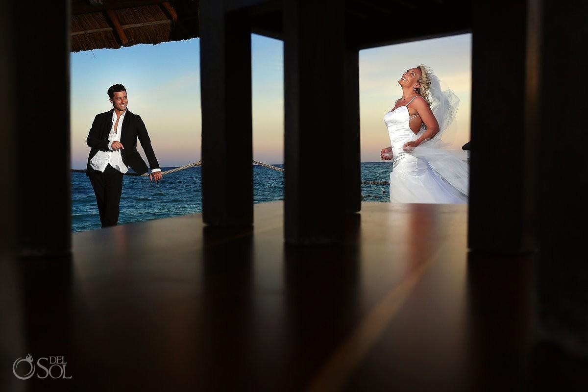 wedding portrait Viceroy Riviera Maya Mexico