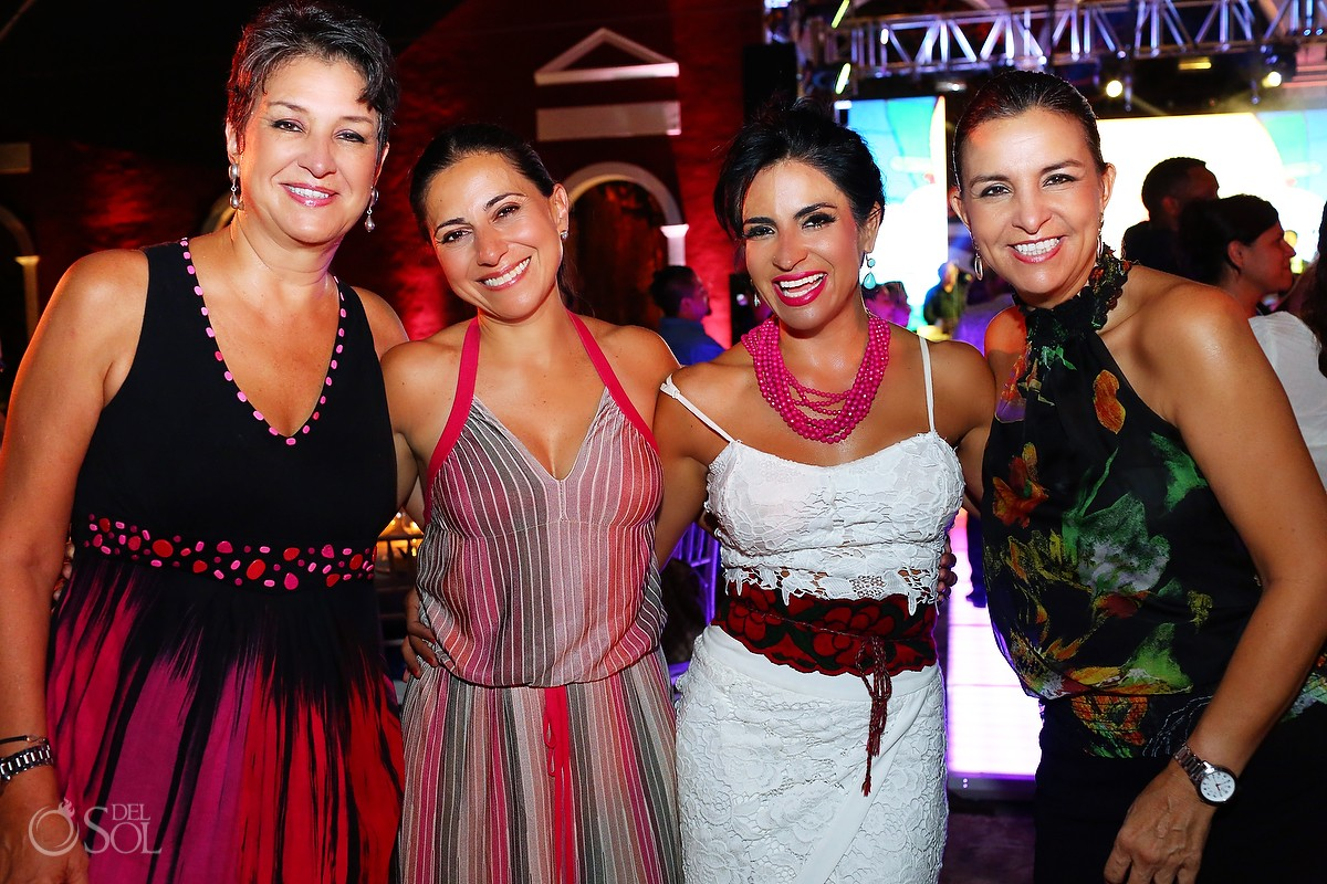 Carolina Cardenas - Hacienda Teya, Kitzia morales - convention organizer, Sol Tamargo, and Veronica Morales - Hacienda Teya