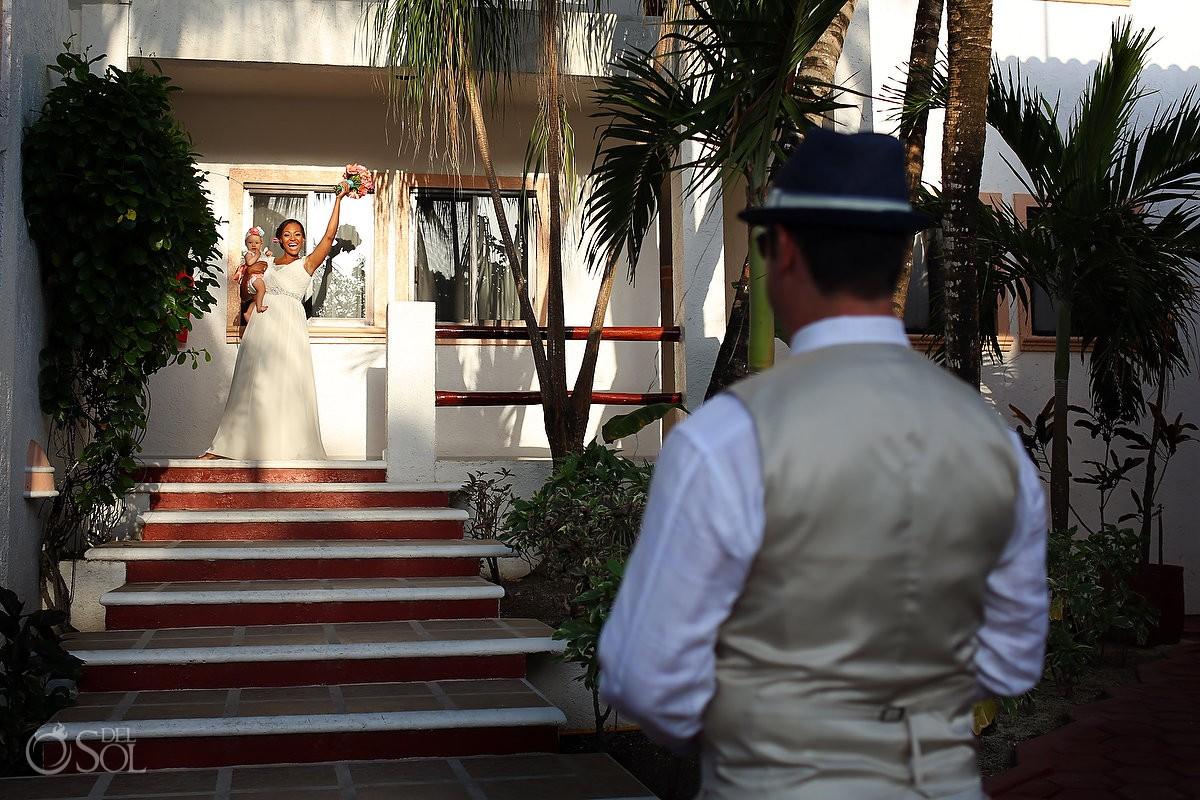 Destination wedding in La buena vida akumal how to include your children in your wedding ceremony