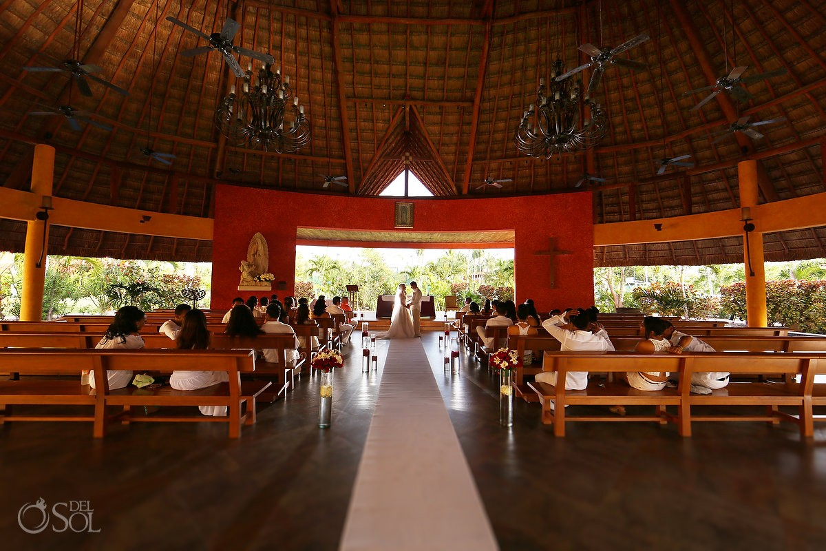 Palapa wedding chapel at Barcelo Beach Resort - Riviera Maya