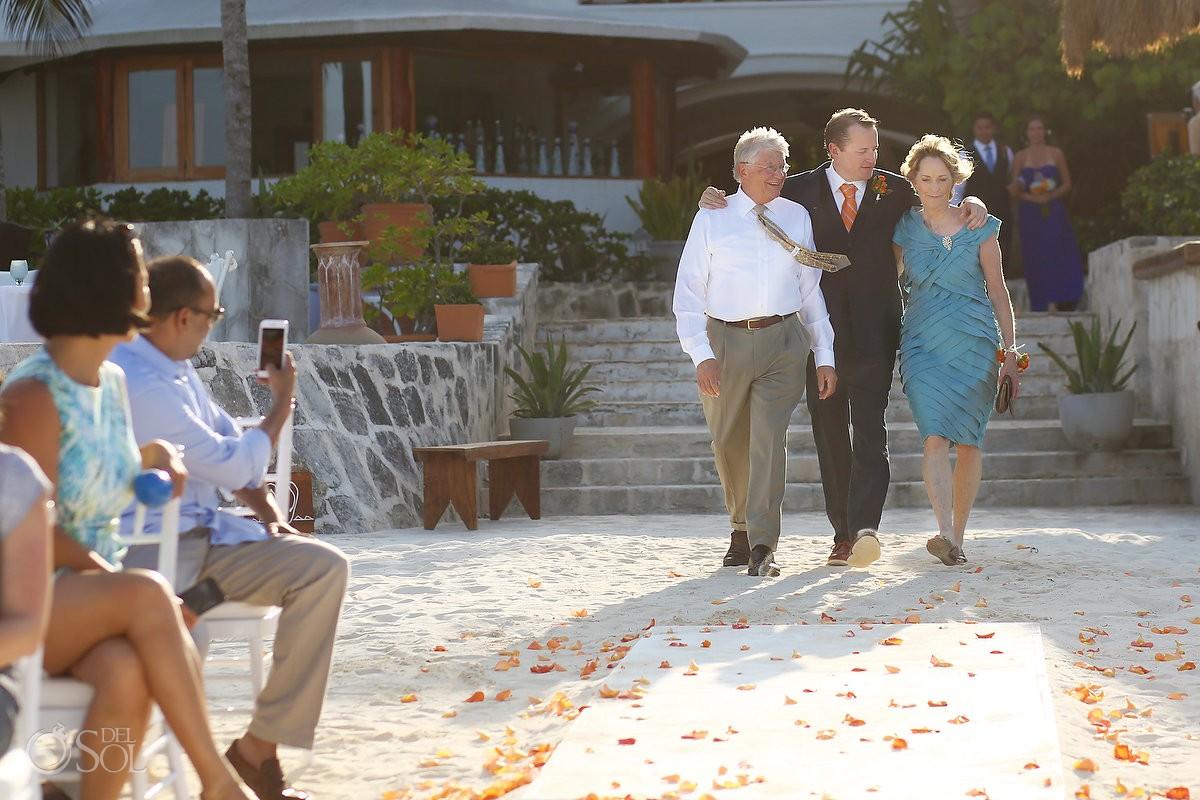 destination beach wedding ceremony at belmond maroma resort and spa
