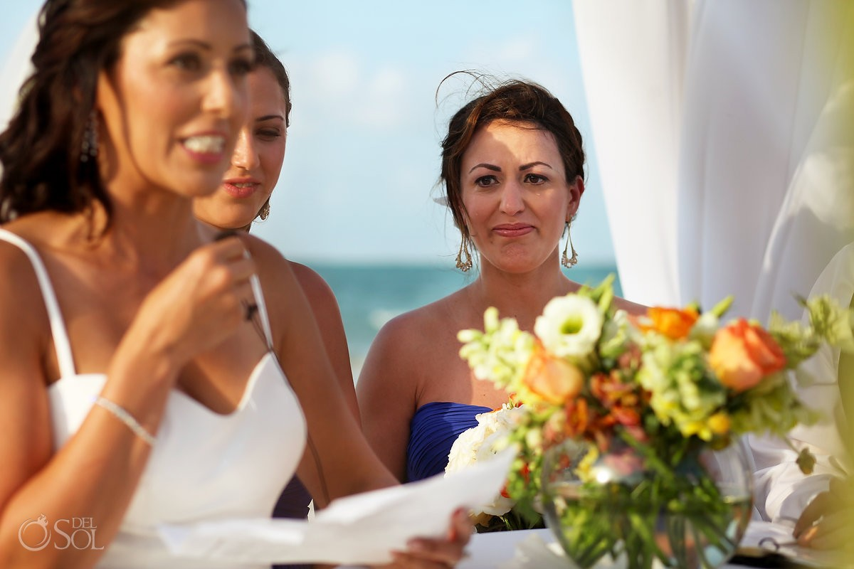 Mexico Destination wedding photo of bridesmaids at belmond maroma resort