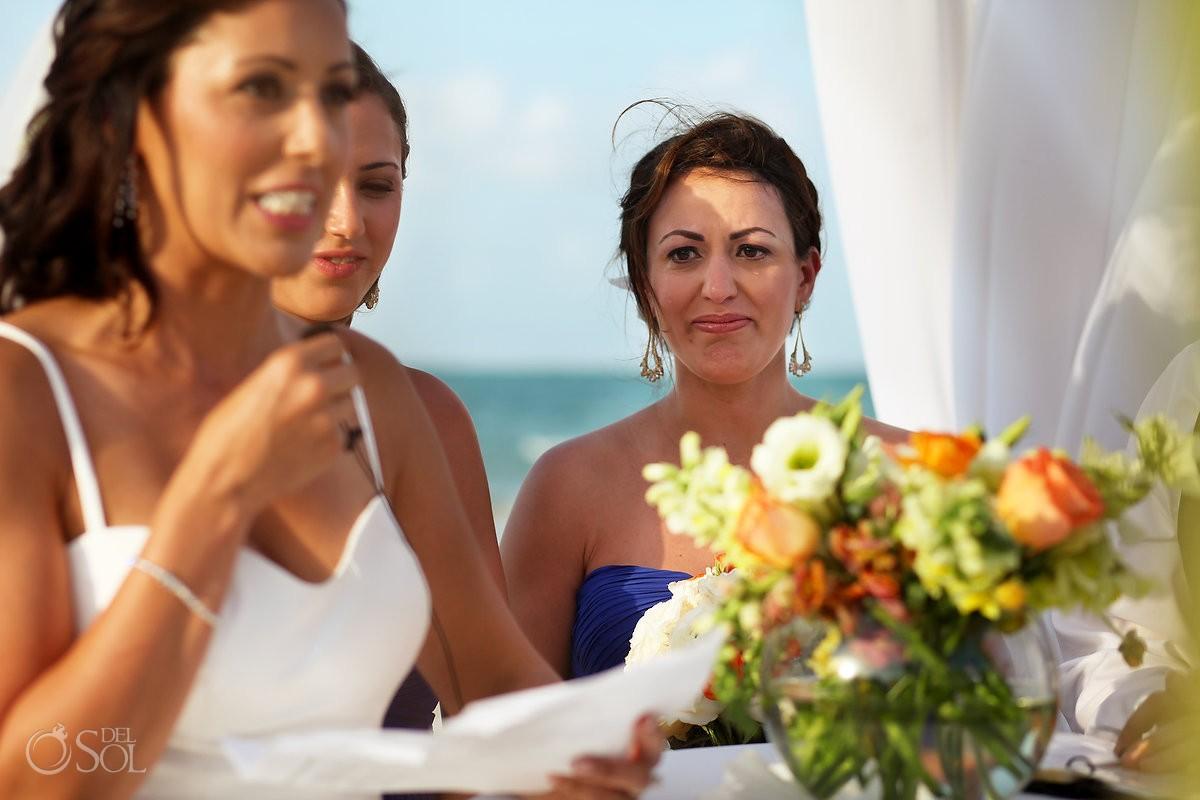 Mexico Destination wedding photo of bridesmaids at belmond maroma resort