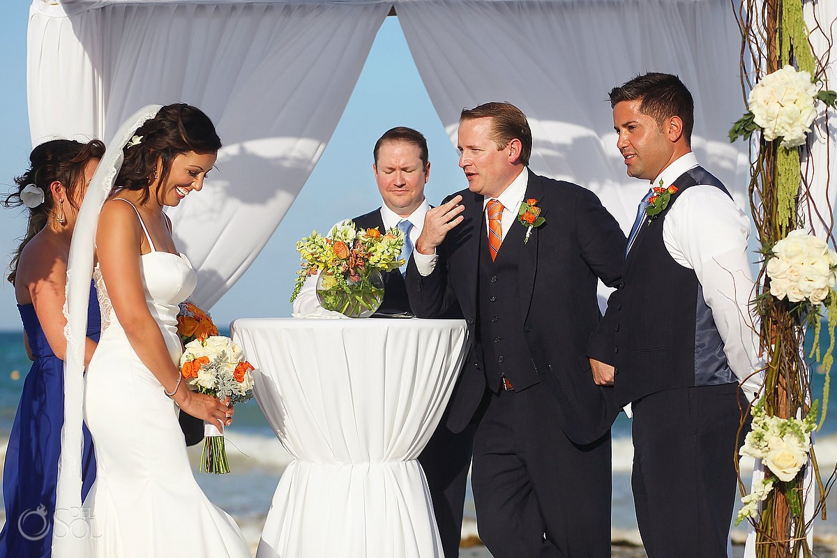 Mexico Destination wedding photo of bride and groom at belmond maroma resort
