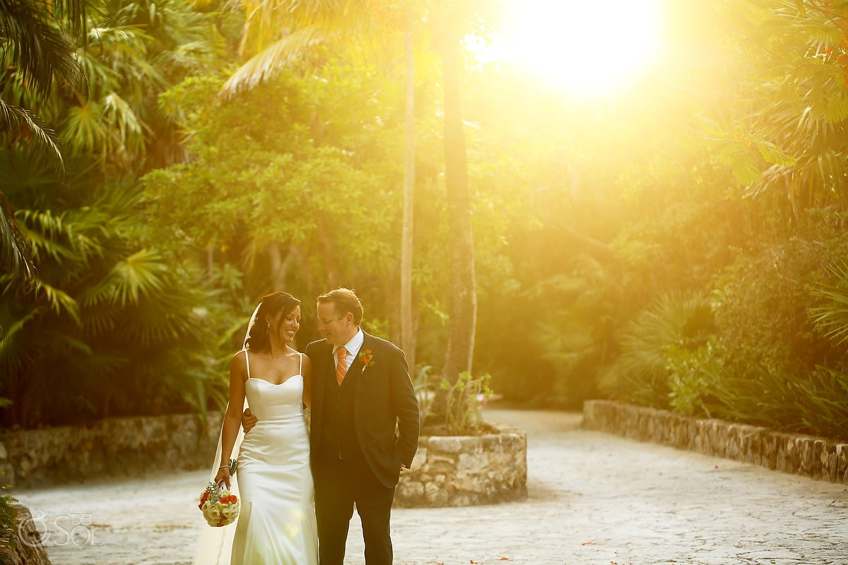 mexico destination wedding photo in the gardens of belmond maroma resort