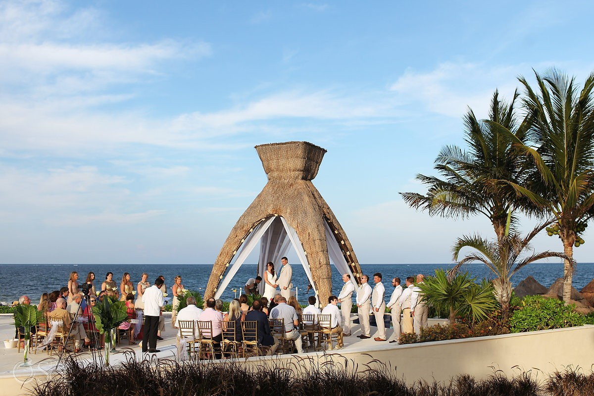 dreams riviera cancun gazebo wedding ceremony