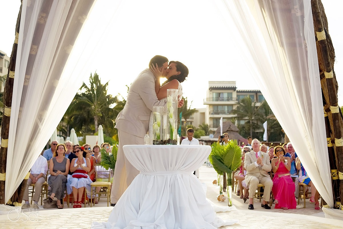 First kiss at the dreams riviera cancun hotel by now resorts