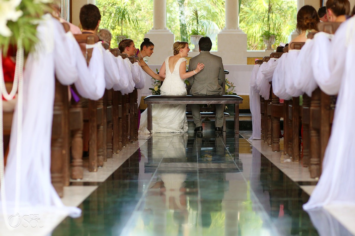 Church Destination Wedding at Grand Palladium Kantenah Resort