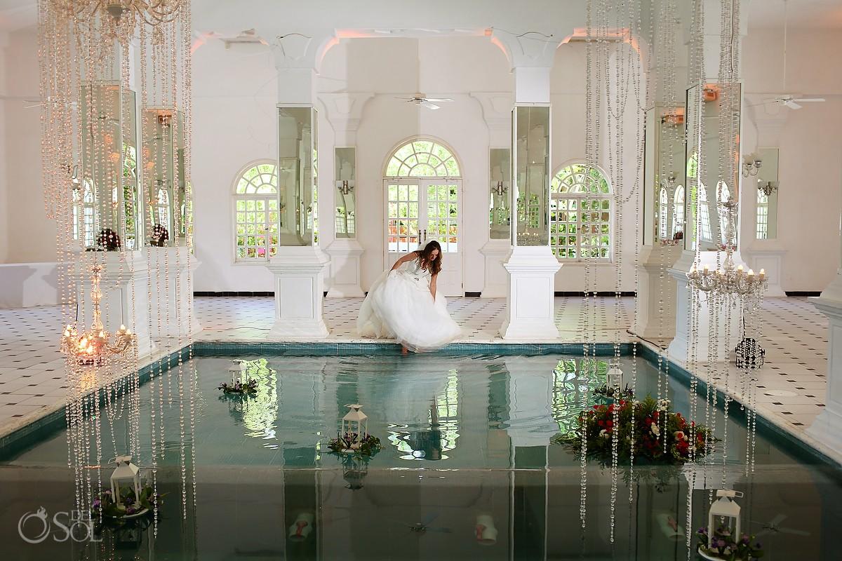 Indoor pool hacienda Teya Yucatan Mexico #ExperienciasInfinitas