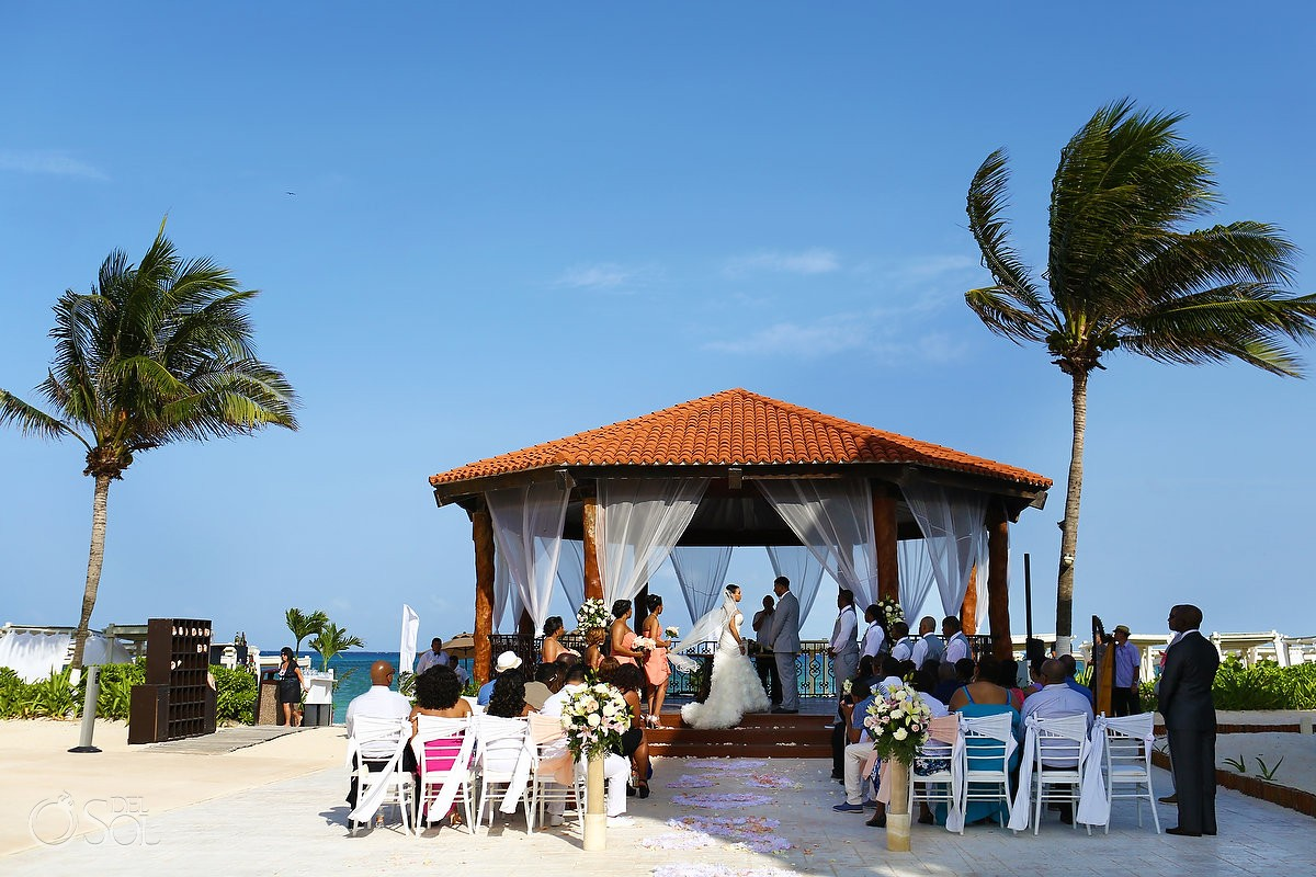 Gazebo wedding at the Royal Playa del Carmen Resort