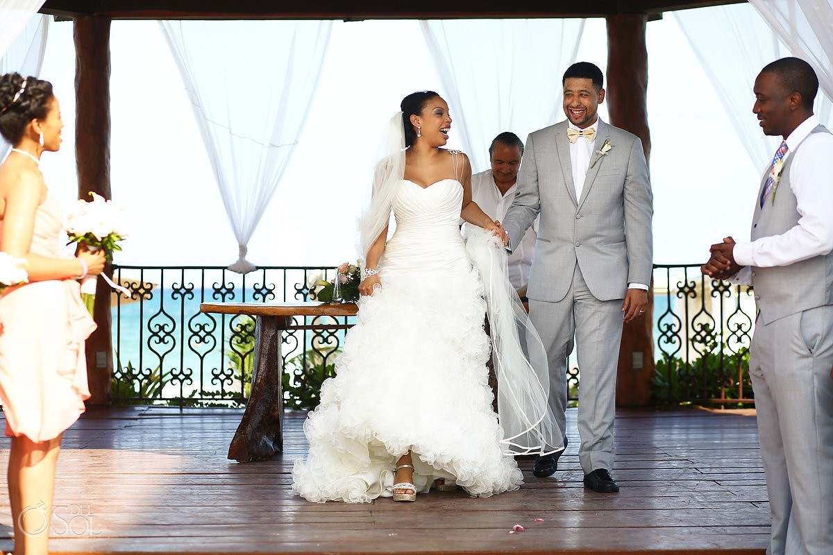 Gazebo Wedding at the Royal Playa del Carmen - Shanta and Alexander