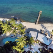 Drone aerial photo of the Viceroy Riviera Maya Resort