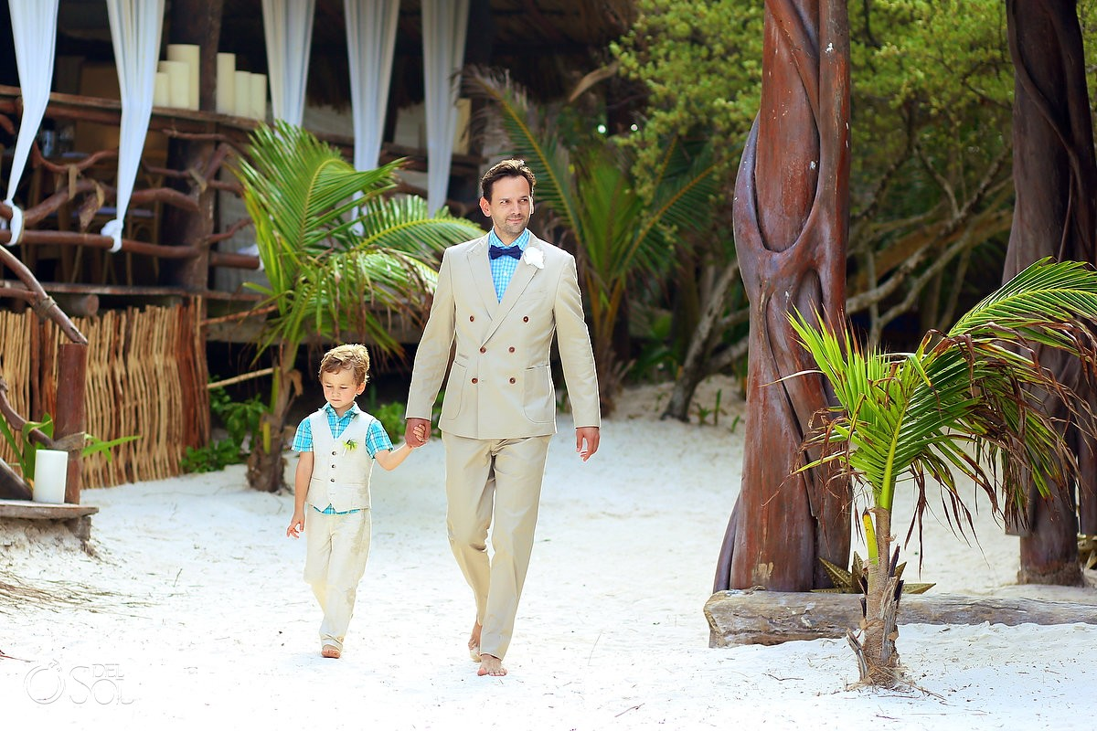 Akiin Beach club how to include your children in your wedding ceremony
