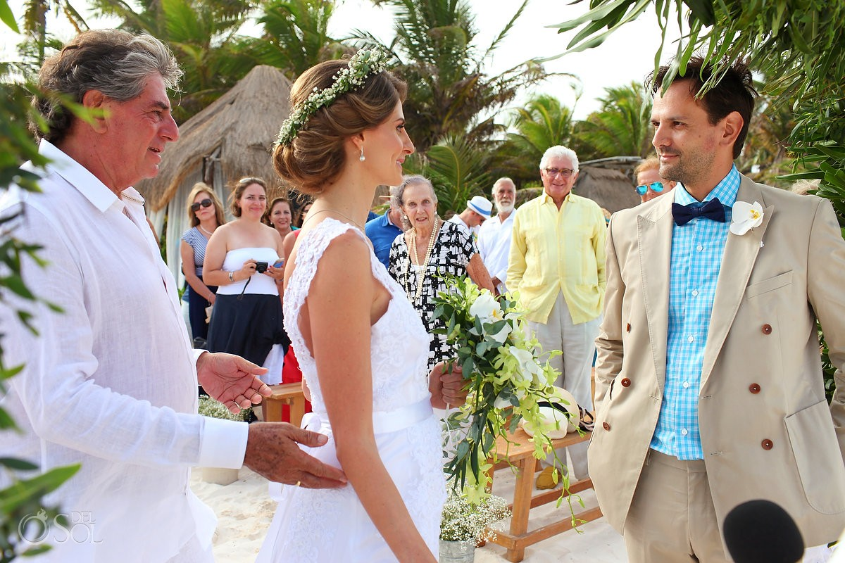 Beach Wedding at Akiin Beach Club, Tulum