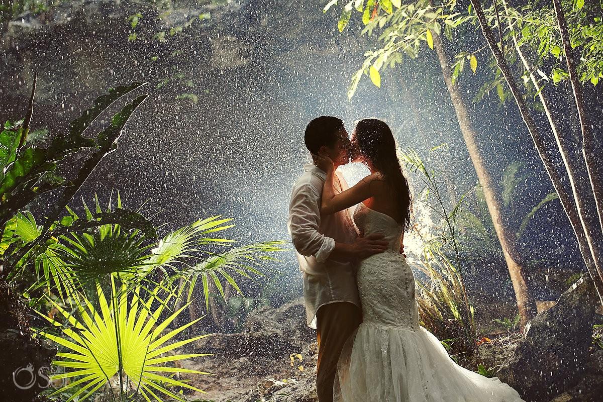 rain wedding in riviera maya mexico cenotes