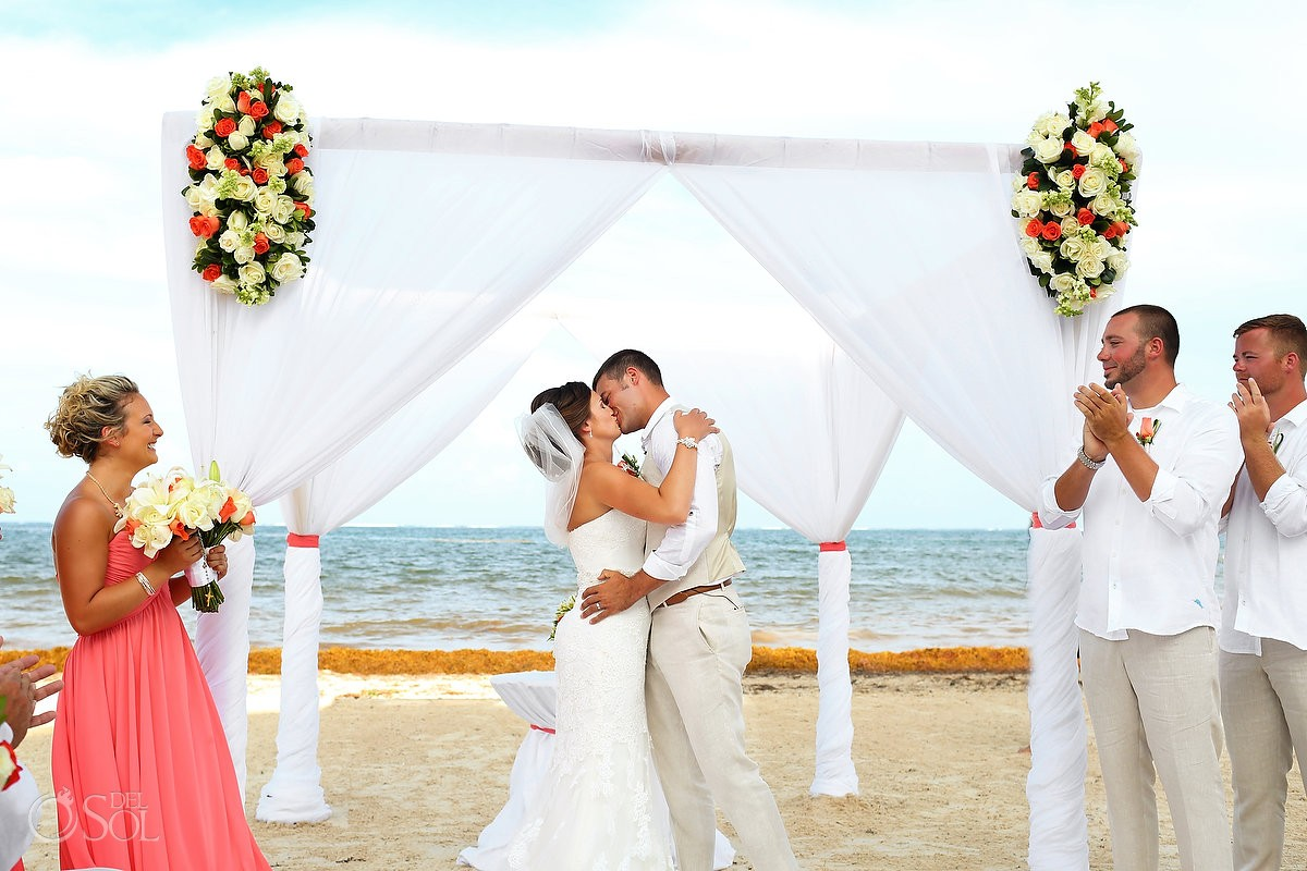 Dreams Riviera Cancun Beach Wedding - Aubrey and Justin