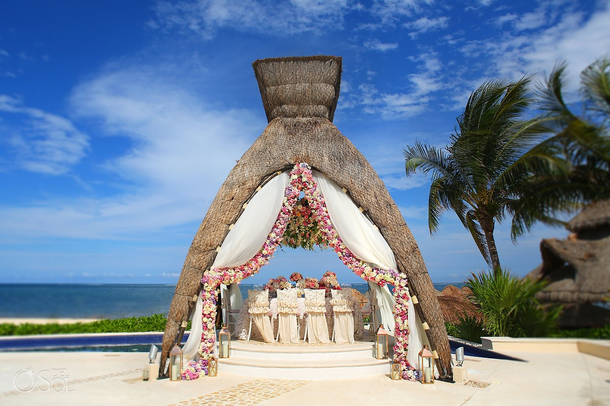 beach gazebo dreams riviera cancun wedding photographer