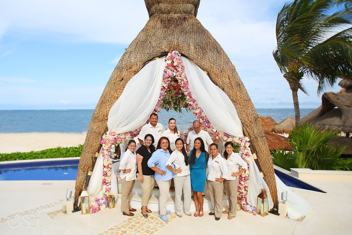 Tha amazing Dreams Riviera Cancun events /groups / wedding team