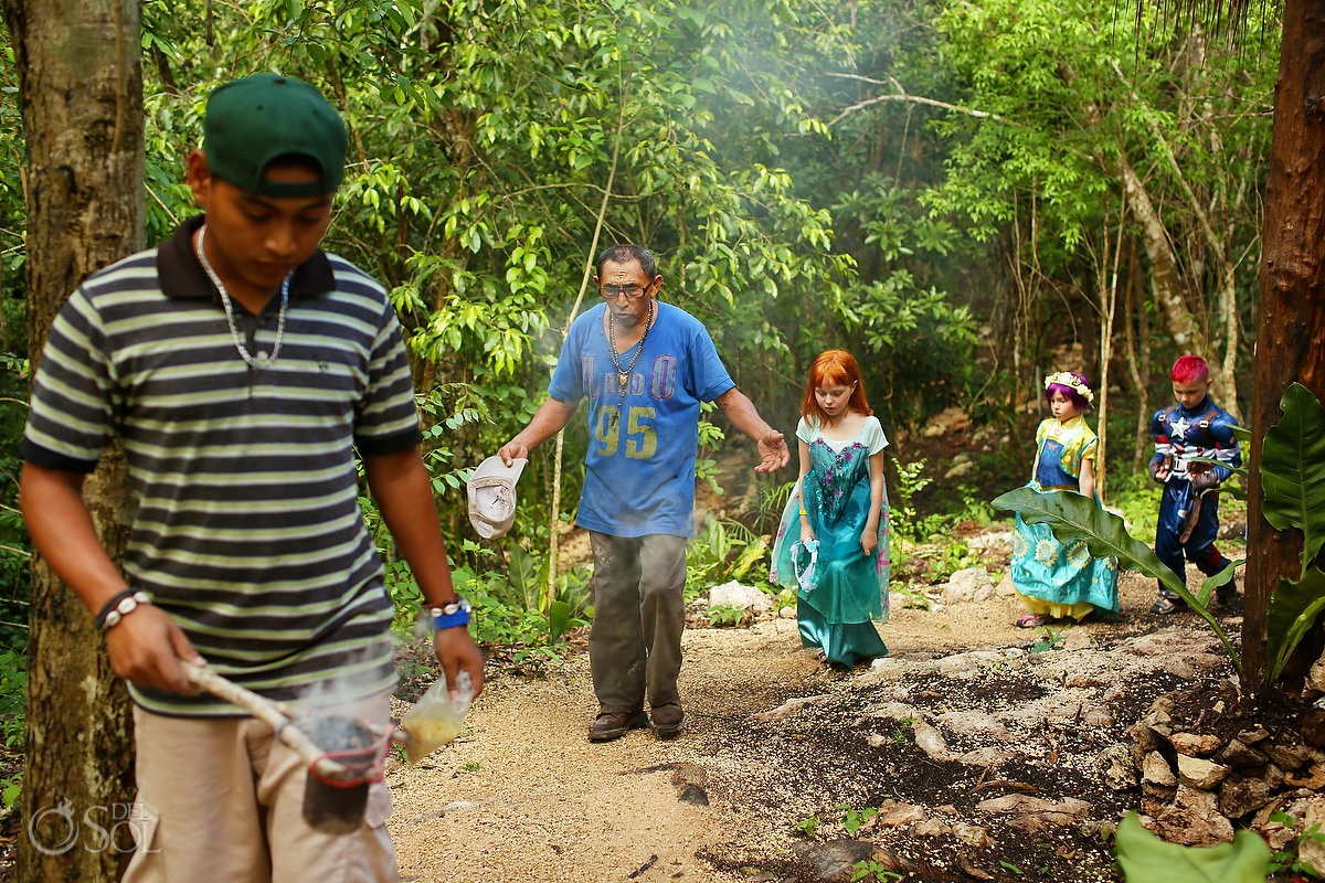 Mayan Shaman leads family in special burial ceremony