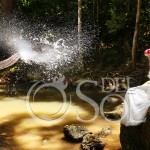 Thailand Trash the Dress photographer Elephant and Waterfall in Koh Samui