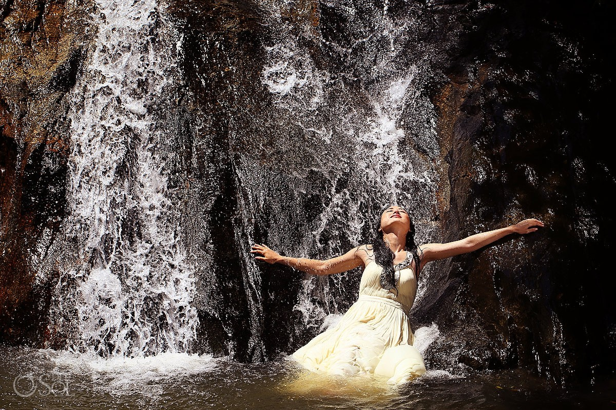 Thailand Trash the Dress Photographers in waterfalls Koh Samui