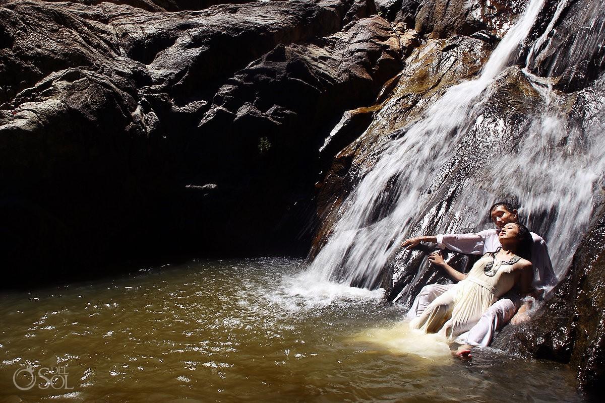 Thailand Trash the Dress photos Elephant and Waterfall Koh Samui