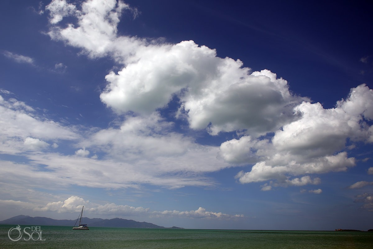 magical clouds and amazing ocean Thailand Trash the Dress in Koh Samui island