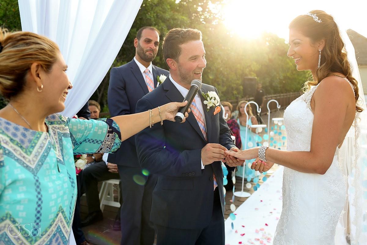 Wedding Ceremony Gabi Bridge Paradisus Playa del Carmen Mexico